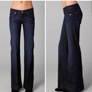 7FAMK Dark Wash 7 Pocket Dojo Jeans Size 27